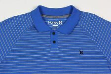 Mens HURLEY Blue White Stripe Nike Dry Fit Polo Shirt Small S NWT Nice!