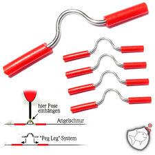 10x PEG-LEG, englisches Feststellsystem für Posen & Waggler, Angelzubehör Angeln