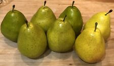 Fake Faux Fruit Lot of 6 Pieces Pears Prop Staging