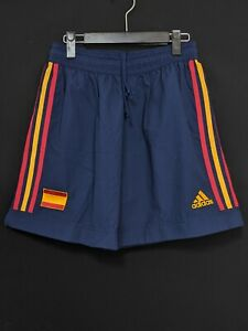 2002-03 Spain Home Football Shorts Soccer adidas Size:L *Excellent Condition*