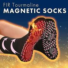 Self Heating Magnetic Tourmaline Therapy Health Socks Infrared Foot Pain Black S