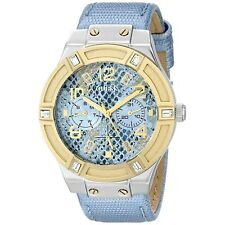 Guess U0289L2 Women's Rigor Ice Blue Python & Gold Glitz Watch