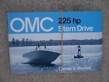1973 OMC Stern Drive Owner Manual 225  HP  MORE MARINE MANUALS IN OUR STORE  S