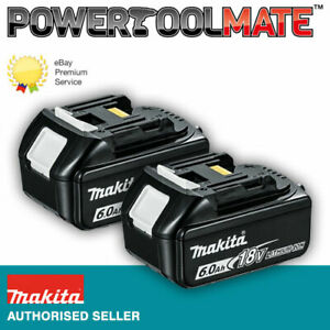 Makita Genuine BL1860 18V 6.0ah Lithium-ion LXT Battery UK *TWIN-PACK*