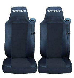 Set of 2 Seat Covers Black for VOLVO EURO 6 Truck Tailored HGV Lorry RHD