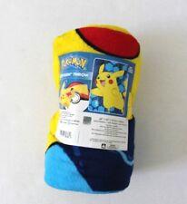Pokemon Pikachu Lightning Strike Super Plush Throw Blanket Yellow & Blue