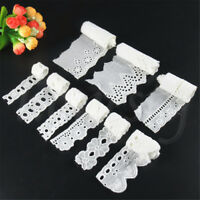 5 Yards Cotton Crochet White Lace Trim Wedding Ribbon Embroidered Sewing Craft