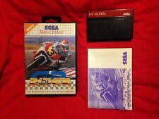 GP Rider SEGA Master System Game PAL 1993 Motorcycle Racing