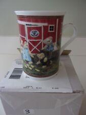 Danbury Mint Boyds Bear Family Farm Coffee Cup Mug Nib