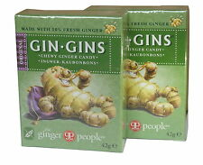 THE GINGER PEOPLE GIN GINS ORIGINAL GINGER CHEWS 2x42g - GLUTEN FREE