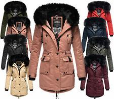 Navahoo Damen Winter Jacke Parka FVS4 Winter Mantel Kunstpelz Kapuze  LULUNA PRZ