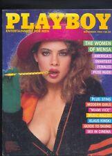 Playboy november 1985 ed.USA Pamela Saunders,Klaus Kinski