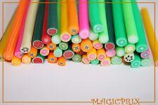 M927A)Lot De 50 Batons Cane Fimo Fruits Idéal Création