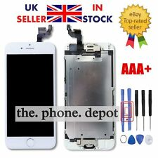 "iPhone 6 4.7"" Replacement Digitizer LCD Touch Screen White Home Button Camera UK"