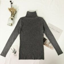 Women's Sweater 2020 Thin Pullover Jumper Knitted Turtleneck Sweater