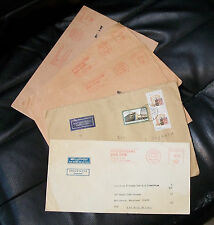 Lot-5 COVERS--1989--DDR East Germany AIRMAIL to USA--Mit Luftpost