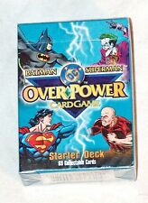 1996 DC COMICS OVERPOWER BATMAN SUPERMAN STARTER DECK 69 GAME CARDS MINT SEALED