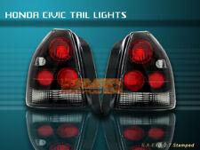 96-00 HONDA CIVIC TAIL LIGHTS BLACK LAMP HATCHBACK 3Door 97 98 99
