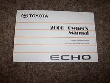 2000 Toyota Echo 1.5L Operator User Guide Owner Owner's Manual