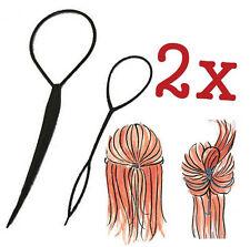 FD625 Topsy Tail Hair Braid Pony Tail Maker Styling Tool Fashion Salon ~2PCs~