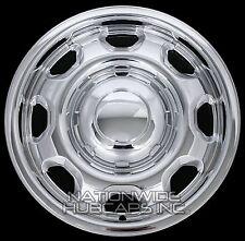 "4 New CHROME 2010-17 Ford F-150 17"" Wheel Skins Hub Caps 8 Slot Steel Rim Covers"