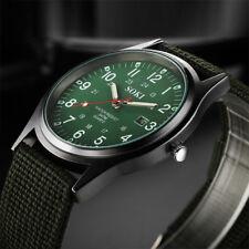 New Military Army Mens Date Canvas Strap Analog Quartz Sport Wrist Watch Gift UK