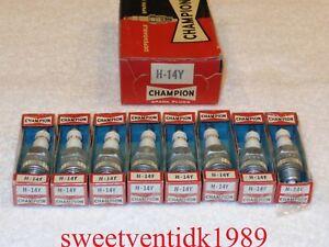 'NOS' Champion H-14Y Spark Plugs...1950 - 60's...Studebaker, Am. Motors...etc..