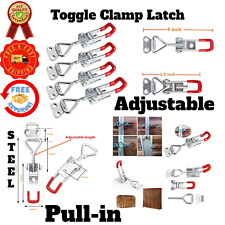 Mounting Door Lock Red Plastic Handle Protection Pull In Toggle Clamp Latch
