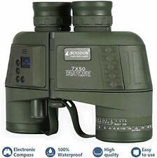 Marine Binoculars, with Digital Electronic Compass Rangefinder 7X50 Waterproof