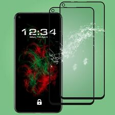 2x Glass Foil Fullscreen Clear Huawei Honor 20 in Black Safety Real 9H