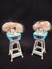 vintage 2 -1998 Barbie Kelly doll in highchair McDonald's