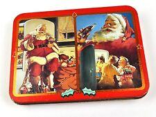 Coca-Cola Coke Blech Dose Tin Box USA 1995 Motiv Santa Sack Kinder Kühlschrank