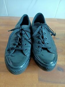 CONVERSE ALL STAR Sneakers Womens Size US 7 Black Leather