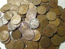 (50) 1909-1919 Wheat Penny Roll / Vg-Fine+ / Teen / P-D-S / 1 Roll +Bonus