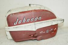 1957 Johnson 10 HP ** ENGINE COWL / SHROUD ** Seahorse Outboard Boat Motor Cover