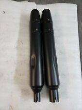 HARLEY DAVIDSON TOURING BLACK MUFFLERS MILWAUKEE EIGHT SLIP ON OEM 2017 & LATER