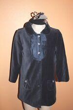 $500+ 6 Janie & Jack Beautifully Adorned coat silk dress tights blue hat jottum