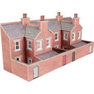 Metcalfe PN176 Low Relief Terrace House Back Red Brick Die Cut Card Kit N Gauge