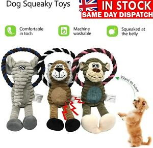Puppy Pet Chew Toys Interactive Dog Bite Stuffed Squeaky Sound Fun Toy Squeaker