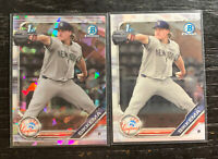 T. J. Sikkema 1st Bowman Chrome Lot(2) 2019 Bowman Yankees w/ Atomic Refractor