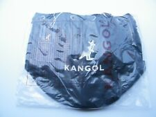 NEW KANGOL ALICE SHOULDER BLACK CANVAS BUCKET TOTE CARRY ON TRAVEL BAG 3738 !