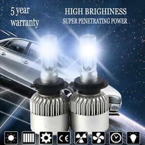 H7 1800W 420000LM COB LED Headlight Conversion Kit  6000K White High Power Bulbs