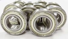 (QTY 10) 6205 ZZ, 6205Z BEARINGS 25 x 52x 15 BALL BEARINGS WITH SHIELDS USBB