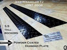 Jeep Wrangler TJ Powder Coated Diamond Plate 3.5 Tall Rocker Panels set