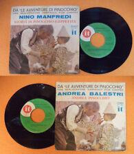 """LP 45 7"""" NINO MANFREDI Storia di pinocchio geppetto ANDREA BALESTRI no cd mc dvd"""