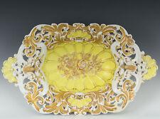 "Meissen Antique 14"" Reticulated Bowl"