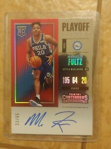 2017-18 Panini Contenders Markelle Fultz Playoff Ticket Auto RC 33/65