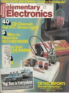 Elementary Electronics Magazine - November December 1976  - CB Radio and HI FI
