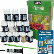 Glass Paint Stain Pebeo Vitrail: 12 Pack Ultra-Transparent Stained Glass Kit