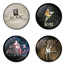 AC DC, AC/DC, A - 4 chapas, pin, badge, button